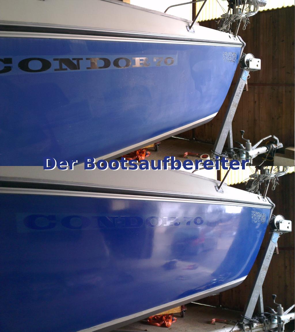 Häufig Polieren einer CONDOR 70 | Bootsservice Zengerle - Der HI93
