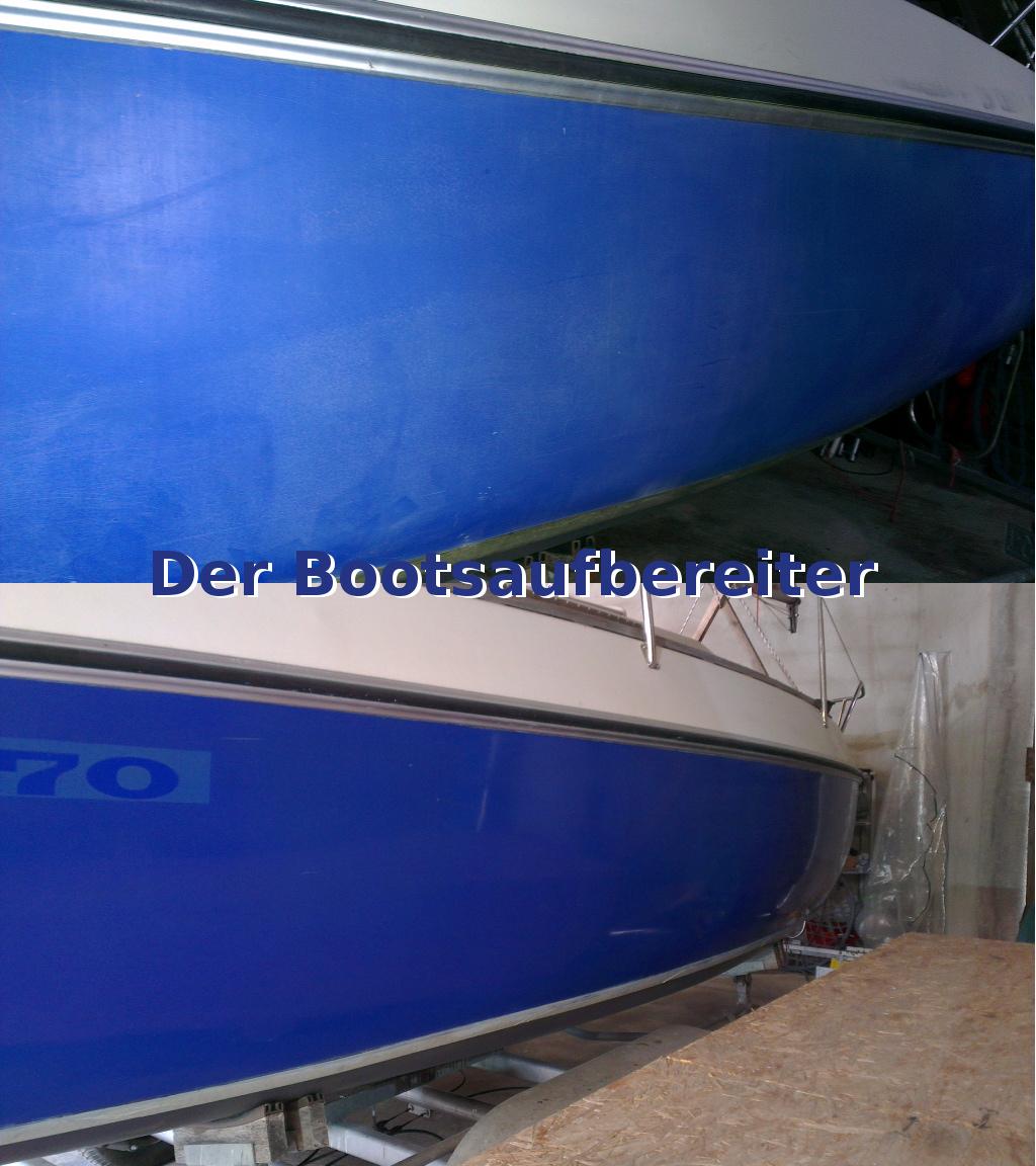 Häufig Polieren einer CONDOR 70 | Bootsservice Zengerle - Der UM75